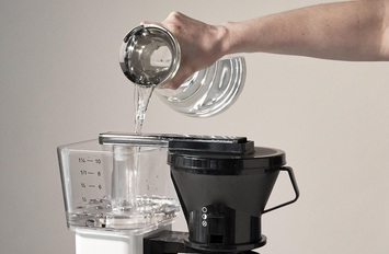 Add the water into the coffee pot