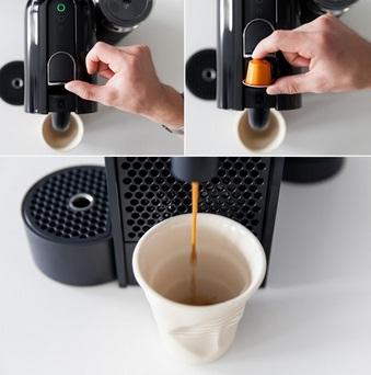 Insert The Coffee Capsule Into The Nespresso Machine