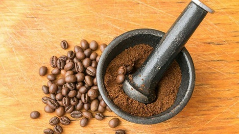 Use Mortar & Pestle for Grinding Coffee