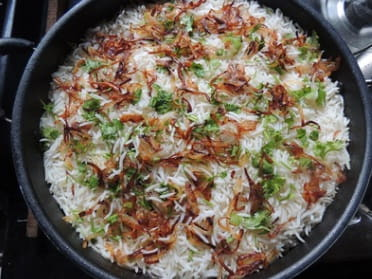 You don't have to cook rice beforehand, or it will become sticky